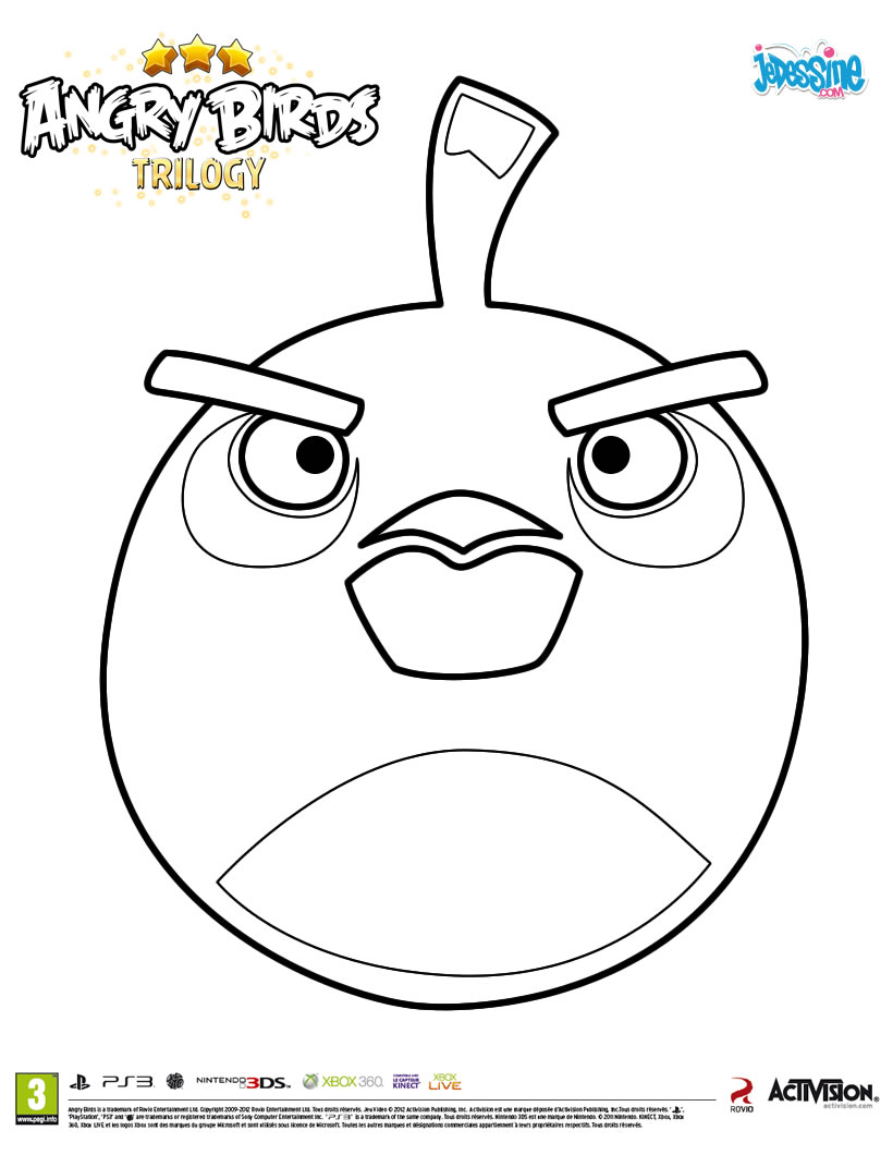 Coloriage Angry Birds Ploo