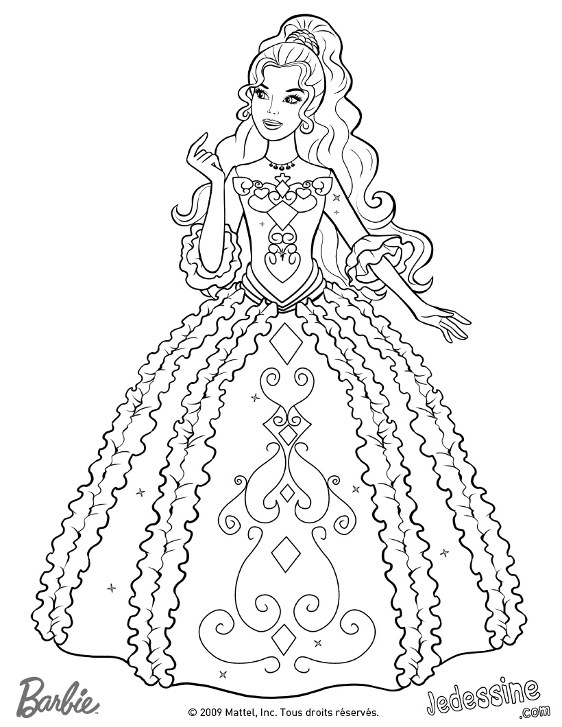 coloriage barbie