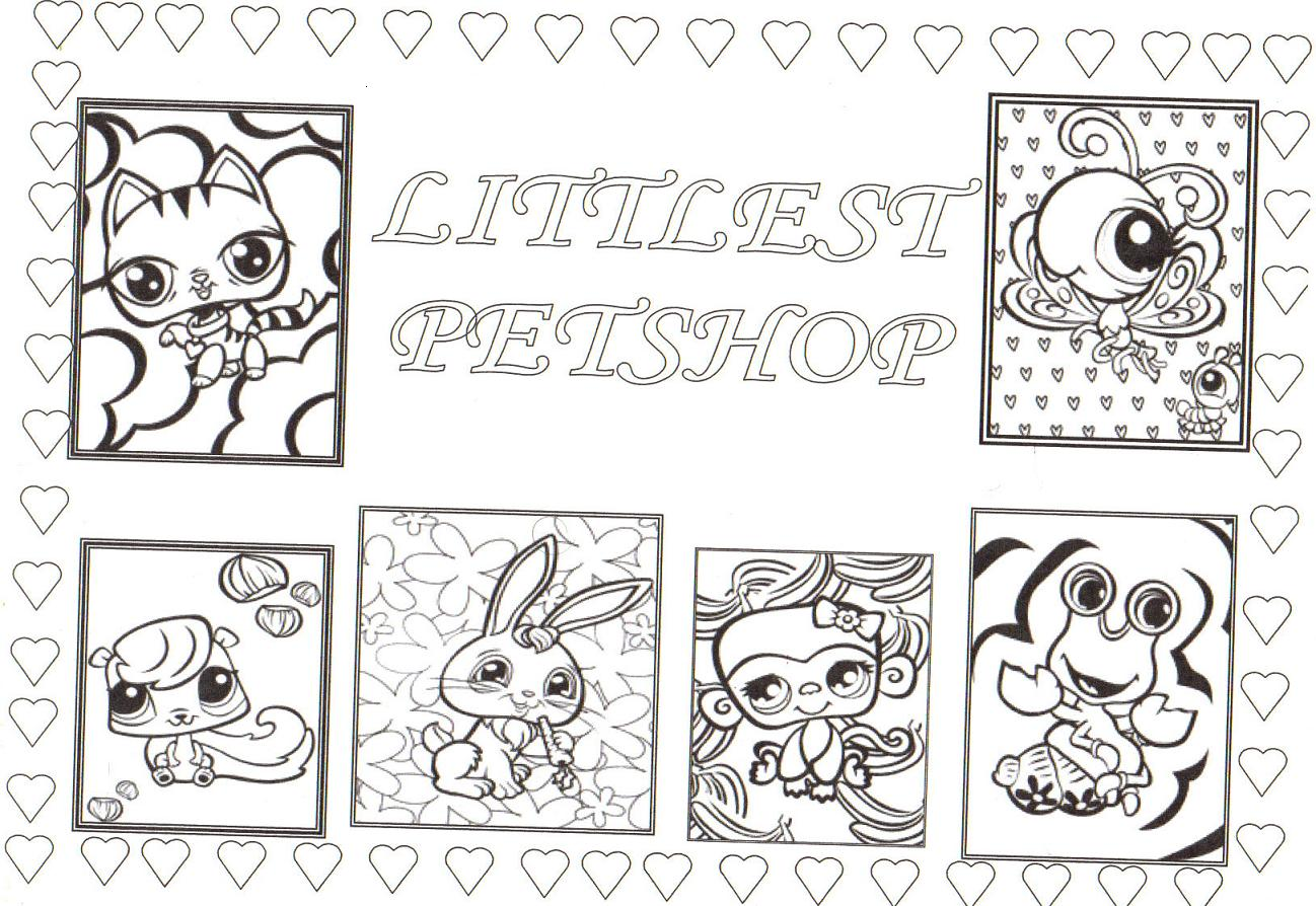 coloriage pet shop