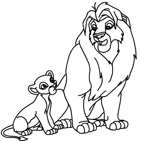 Coloriage roi lion - Coloriages lion ...